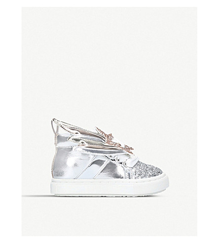 MINI MISS KG Shooting star high top trainers (Silver