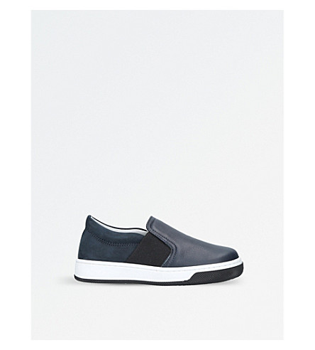 LANVIN Milo slip-on leather skate shoes 3-5 years (Navy