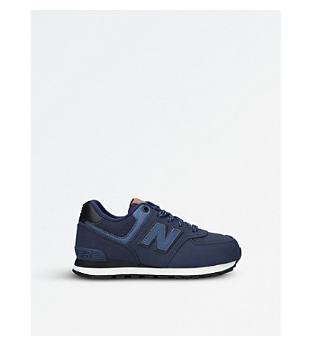 NEW BALANCE 574 leather trainers 6-8 years (Blue