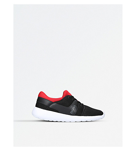 BOSS BY HUGO BOSS Ethan mesh low-top trainers 6-9 years (Blk/red