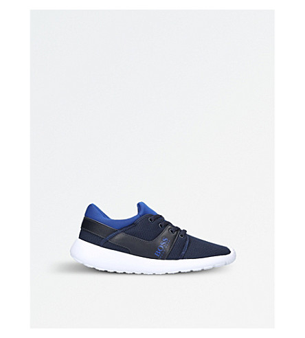 BOSS BY HUGO BOSS Ethan mesh low-top trainers 6-9 years (Navy