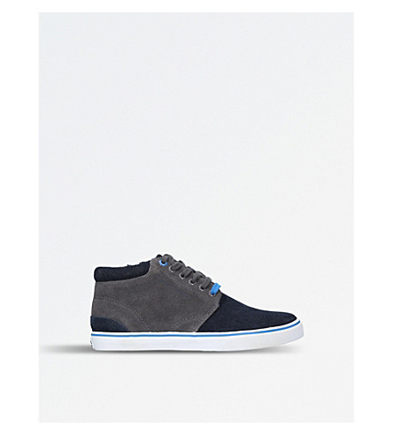 BOSS BY HUGO BOSS Lucas suede high-top trainers 6-9 years (Navy