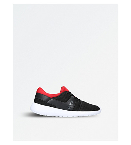 BOSS BY HUGO BOSS Ethan mesh low-top trainers 9-10 years (Blk/red