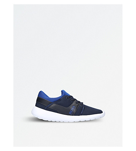 BOSS BY HUGO BOSS Ethan mesh low-top trainers 9-10 years (Navy