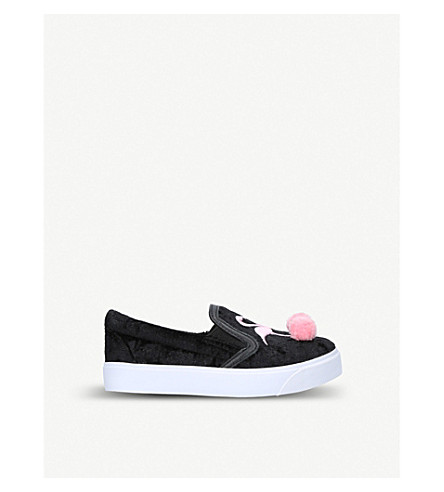 SOPHIA WEBSTER Kingston flamingo velvet skate shoes (Black