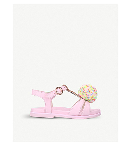 SOPHIA WEBSTER Loni ice cream leather sandals 2-8 years (Pale+pink