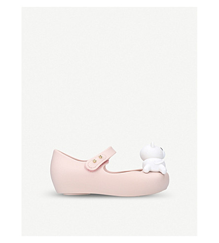 MINI MELISSA Ultragirl Cat Twins mary-jane shoes (Nude