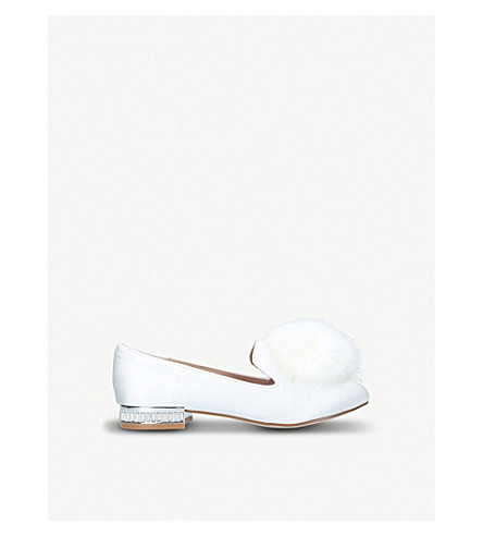 MINI MISS KG Mini Lap velvet slippers (Cream