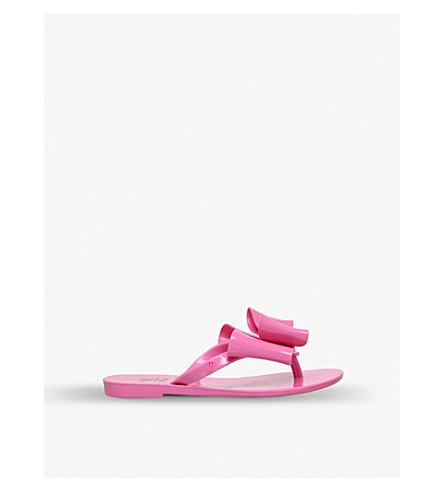 MINI MELISSA Harmonic bow rubber flip-flops (Pink