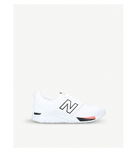 NEW BALANCE 247 low-top mesh trainers (White/blk