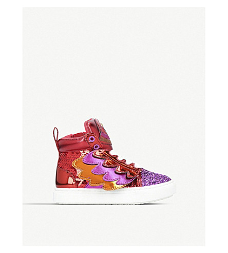 MINI MISS KG Polly high top trainer (Red