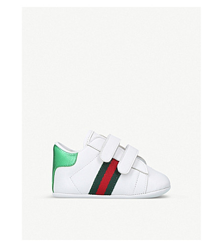 GUCCI New Ace leather trainers 4 months-3 years (White