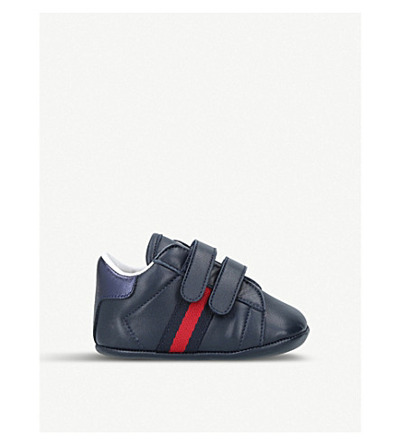 GUCCI New Ace leather trainers 2-5 years (Navy