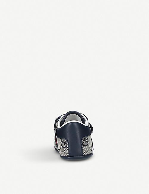 GUCCI 新 Ace 织布和皮革运动鞋 2-5 岁