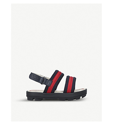 GUCCI Sam webbing and leather sandals 2-5 years (Blue+other
