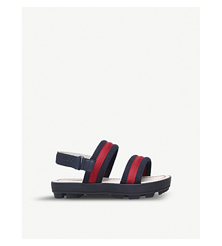 GUCCI Sam webbing and leather sandals 5-8 years (Blue+other