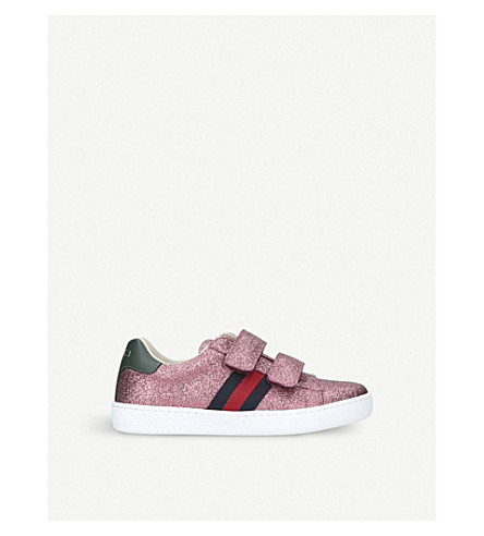 GUCCI New Ace VL glitter trainers 4-8 years (Pink