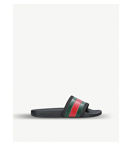 GUCCI Pursuit rubber sliders 4-8 years (Green+oth