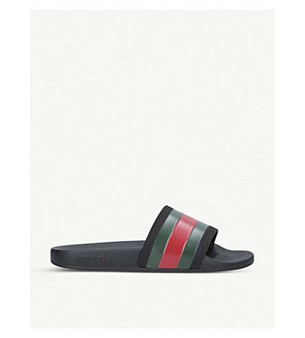 GUCCI Pursuit rubber sliders 8-9 years (Green+oth