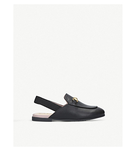 GUCCI - Princetown leather slingback loafers 3-5 years  7b927b245