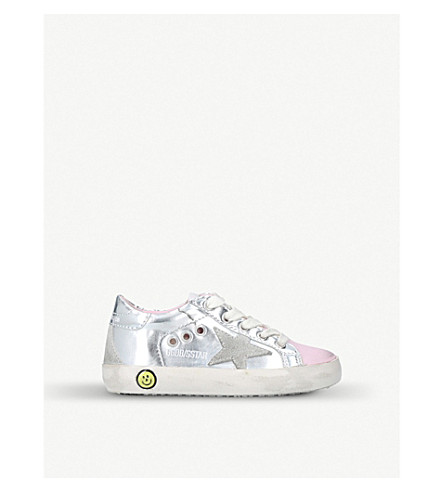 GOLDEN GOOSE Superstar leather trainers 1-4 years (Silver