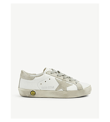 GOLDEN GOOSE Superstar leather trainers 6-9 years (White/oth