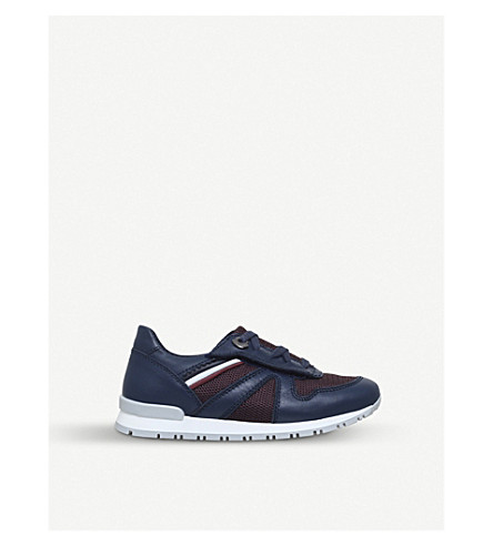 MONCLER Fabien suede trainers 3-7 years (Navy