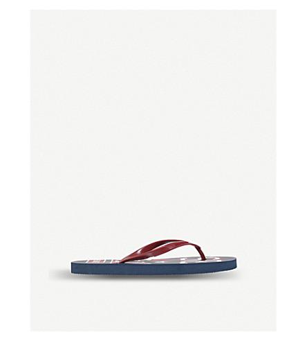 DIESEL FF 9 logo flip-flops (Blue+other
