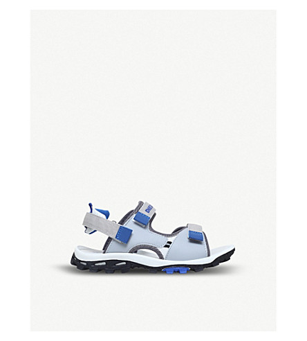 DIESEL SA 9 bicolour double-strap sandals (Grey/other