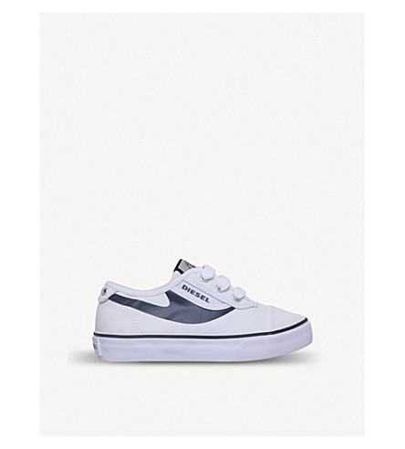 DIESEL SN Low 2 Basic Claw canvas low-top trainers 4-7 years (White/navy