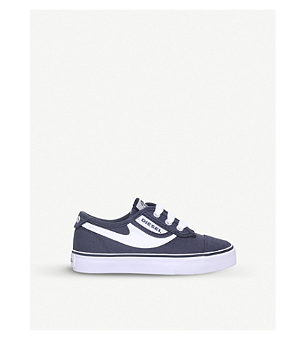 DIESEL SN Low 2 Basic Claw canvas low-top trainers 4-7 years (Navy