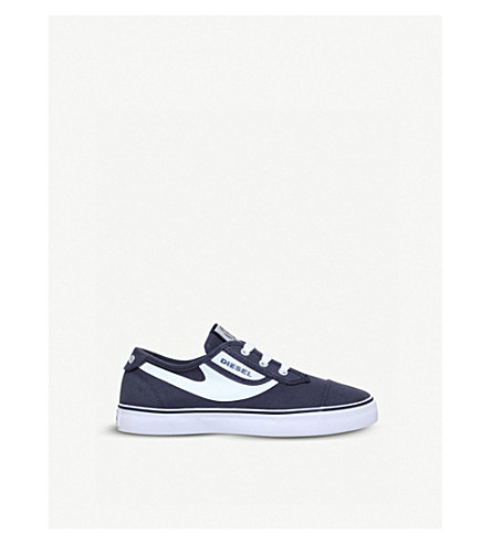 DIESEL SN Low 2 Basic Claw canvs low-top trainers 7-11 years (Navy