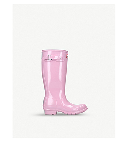 HUNTER Original kids gloss boots (Pale+pink