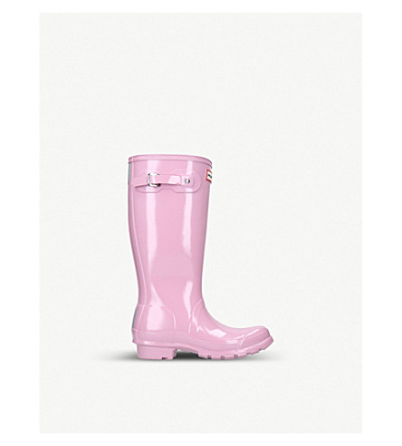HUNTER Original kids gloss boots (Pale+pink