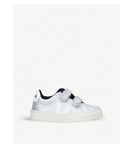 VEJA Esplar metallic-canvas trainers 2-9 years (Silver