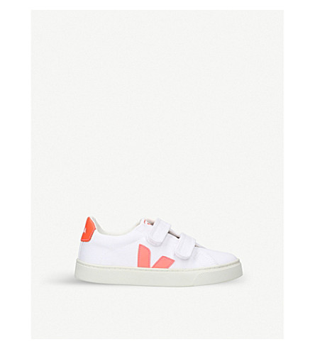 VEJA Esplar canvas trainers 6-9 years (White/oth