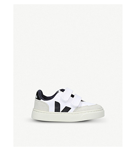 VEJA V12 mesh and suede trainers 2-5 years (White/blk