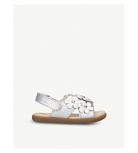 UGG Allairey Shimmer daisy metallic sandals 6 months-3 years (Silver