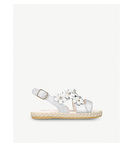 UGG Allairey Shimmer daisy metallic espadrille sandals 2-6 years (Silver
