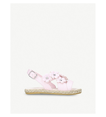 UGG Allairey Sparkle espadrille sandals 2-6 years (Pale+pink