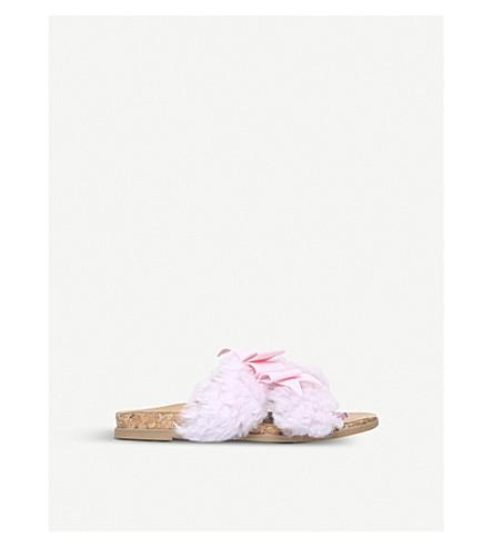 UGG Staceee sheepskin sliders 4-8 years (Pale+pink
