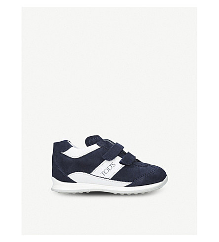 TODS New 0 Wave suede trainers 1-5 years (Navy