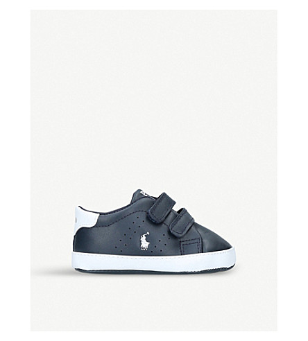 POLO RALPH LAUREN Quilton ez leather trainers (4 months-3 years) (Navy