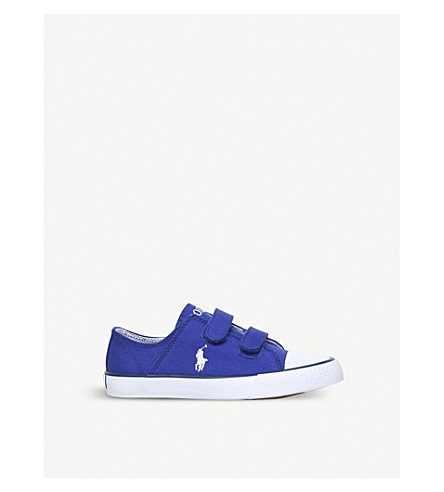 POLO RALPH LAUREN Darian canvas trainers 4-9 years (Blue