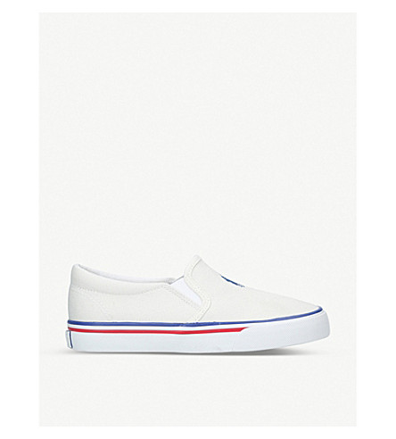 POLO RALPH LAUREN Morees cavas slip on trainers (5-8 years) (White