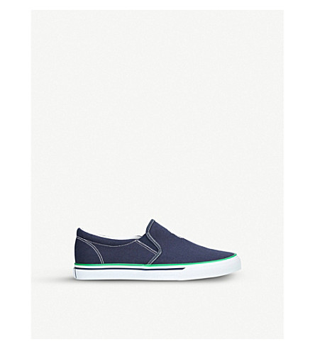 POLO RALPH LAUREN Morees canvas slip-on trainers (Navy