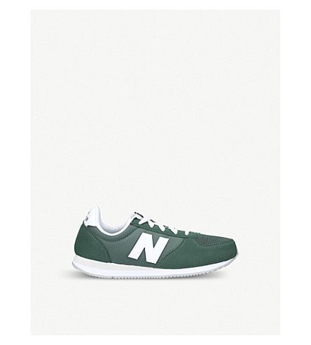 NEW BALANCE 220 low-top suede and mesh trainers 6-11 years (Green