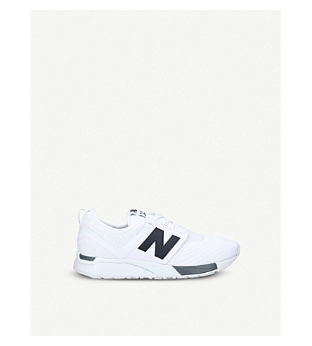 NEW BALANCE 247 low-top mesh trainers 6-9 years (White