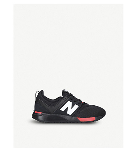 NEW BALANCE 247 low-top mesh trainers 9-11 years (Black