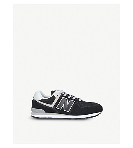NEW BALANCE 574 suede and mesh trainers 6-9 years (Black